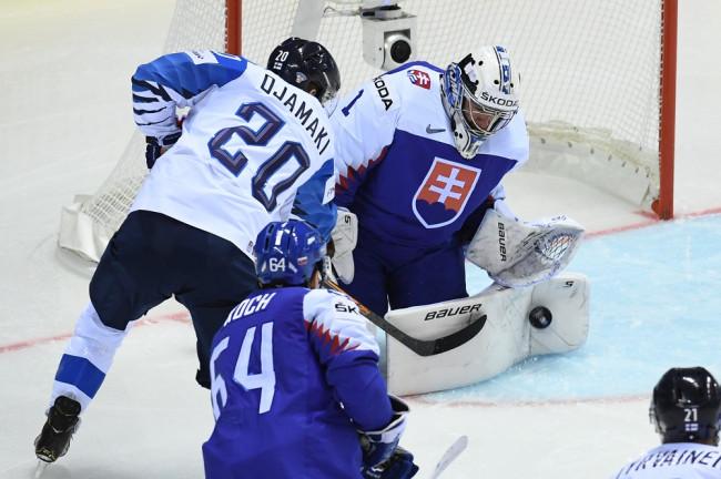 eb97e66cf ... Slovenska Marek Čiliak počas zápasu základnej A-skupiny Slovensko -  Fínsko na 83. majstrovstvách sveta v ľadovom hokeji v Košiciach 11. mája  2019.