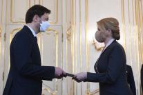 Prezidentka Z. Čaputová a premiér E. Heger