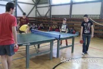 Bojovali o titul Majster školy v stolnom tenise