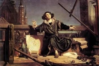 Smelú myšlienku o heliocentrizme rozviedol Koperník v šiestich knihách
