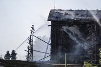 Požiar na Kazanskej ulici v Bratislave