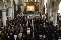 Pohreb belgického cyklistu Bjorga Lambrechta