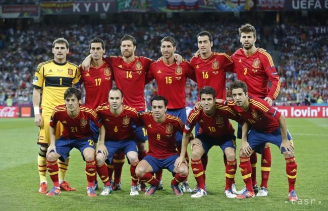 99ada1609daa5 Španielska základná zostava pred finále EURO 2012 v Kyjeve proti Taliansku.