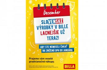 BILLA má lacnejšie slovenské výrobky už teraz