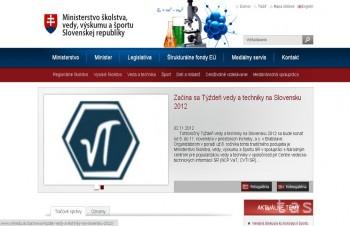 Ministerstvo školstva má nový web