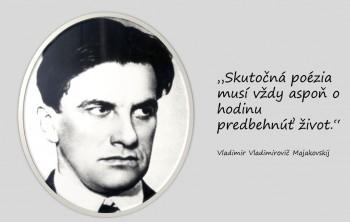 Ruský básnik Vladimir Vladimirovič Majakovskij patril k ľavičiarom
