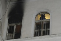 požiar, nemocnica
