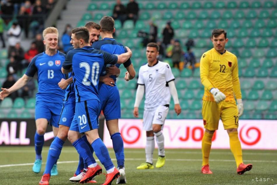 b52afa0ebfe0c VIDEO: Slovenskí futbalisti do 21 rokov zdolali Albánsko