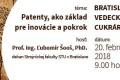 Februárová vedecká cukráreň - Patenty ako základ pre inovácie a pokrok