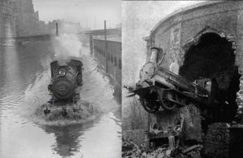 Nehody vlakov na historických fotografiách sú úžasné a hrozné zároveň