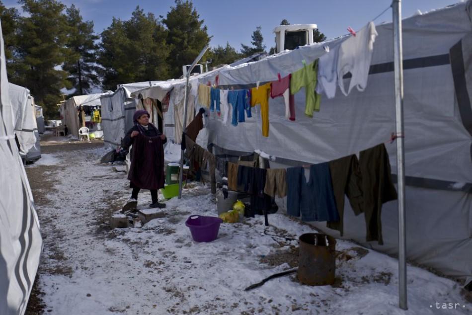 Situáciu v gréckych utečeneckých táboroch komplikuje mrazivé počasie bdcf5578051