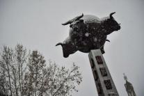 Volal nám toreador, že zostávame doma. Sneží.
