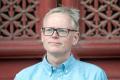 Ian Johnson na Katedre žurnalistiky Univerzity Komenského