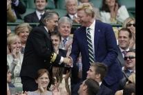 Boris Becker a Ilie Nastase