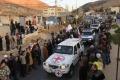 Vozidlá evakuujú ľudí pri obliehanom sýrskom Damasku