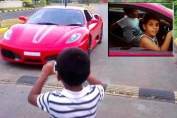 Deväťročný chlapec šoféroval Ferrari