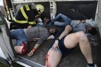 V Kysaku simulovali nehodu