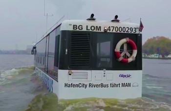 Vodný autobus je teraz asi najlepšia hamburská atrakcia