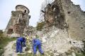 Na hrade Slanec pokračujú v obnove veže Nebojsa a múra paláca