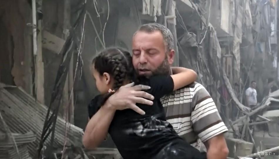 OBRAZOM: Nálety v Sýrii zabili najmenej 35 ľudí vrátane 22 školákov