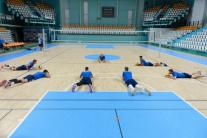 Tréning volejbalistov